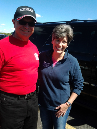 While in Iowa, Rick met Iowa Sen. Joni Ernst. Rick came away very impressed by her understanding of the issues and her willingness to get into the trenches to help.