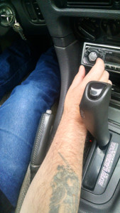 You reach past that emergency brake lever many times until you almost forget that it's there. Hopefully, you'll remember it when you need it and, hopefully, the emergency brake cable won't break.
